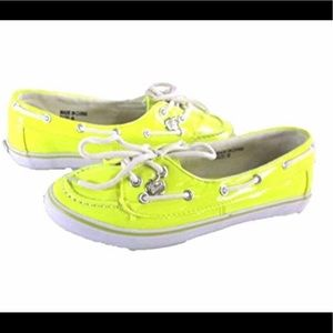 Apple Bottoms Yellow LEONA Boat Sneakers Size 10